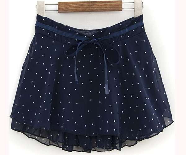 skirt skirt polka dots navy shorts