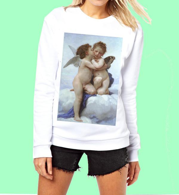 sweater cute sweatshirt white sweater white hoodie black sweater black hoodie women womens sweatshirt womens hoodie cute cute sweaters cute hoodie girly heart romantic romantic earrings