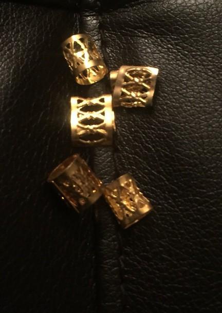 hair accessory box braids gold ring Whereto