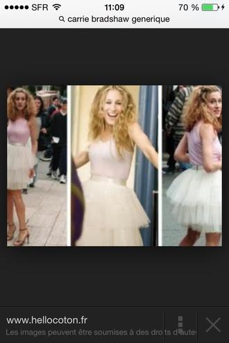carrie bradshaw dress tulle skirt