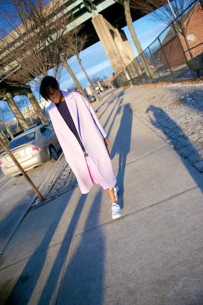 where did u get that blogger coat dress top skirt bag leggings sunglasses