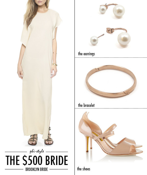 bklyn bride blogger nude high heels wedding clothes pearl