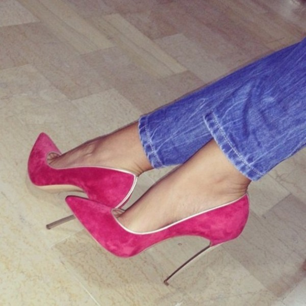 Hot Pink Heels Cheap - Qu Heel