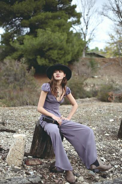 natalie off duty blogger jumpsuit hat bag jewels shoes
