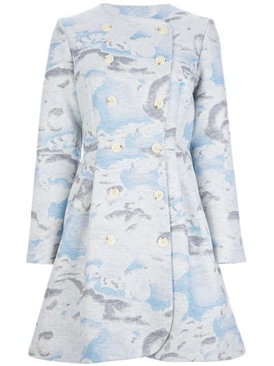 Kenzo 'day Clouds' Coat - Simeone - Farfetch.com