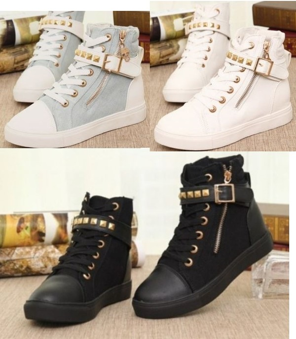 shoes canvas sneakers style high women