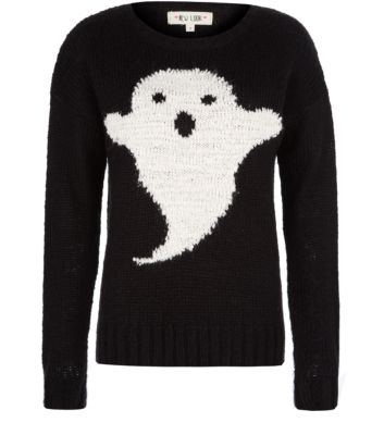 Black Ghost Knitted Jumper