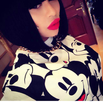 t-shirt mickey mouse jewels blouse sweater