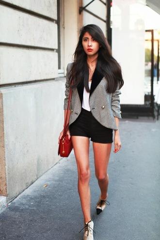 shorts tank top shoes jacket bag chic muse