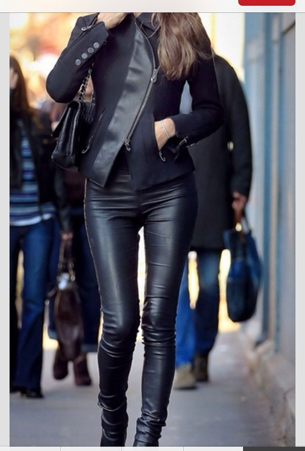 jeans all leather jacket