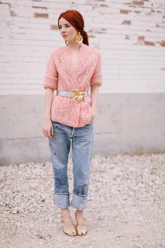 sea of shoes blogger belt jeans jewels