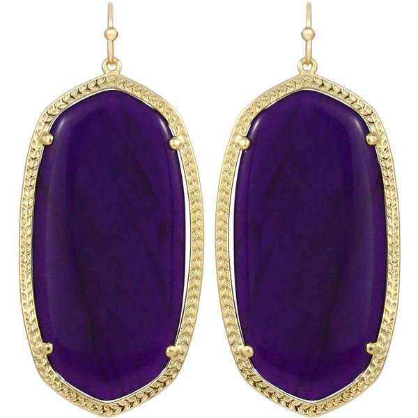 Kendra Scott Danielle Earrings, Purple Onyx - Polyvore