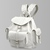 Grafea BIANCA - White Leather Rucksack