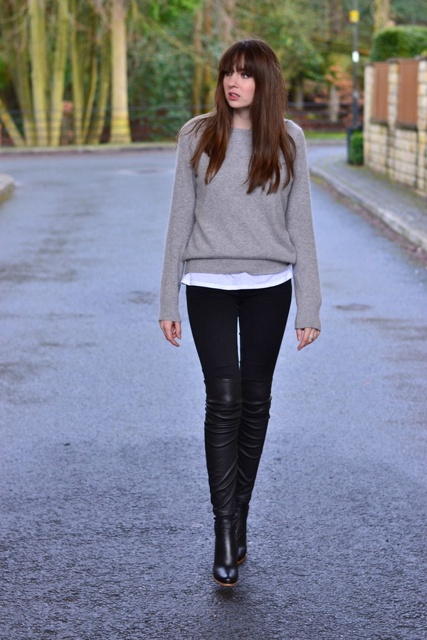 shot from the street shoes jeans sweater t-shirt