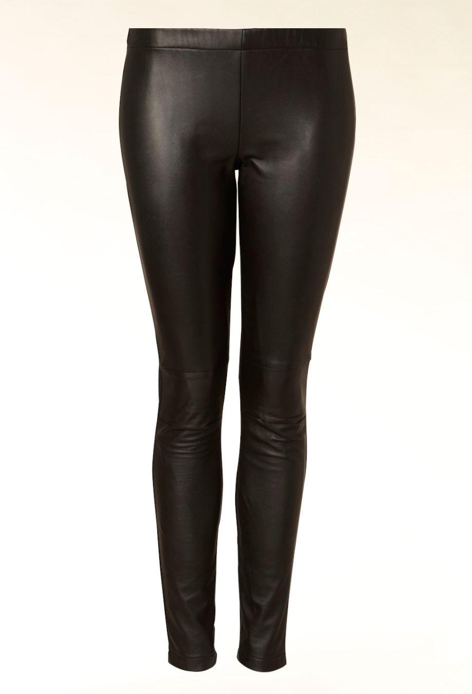 Hallhuber Leather front leggings Black - House of Fraser