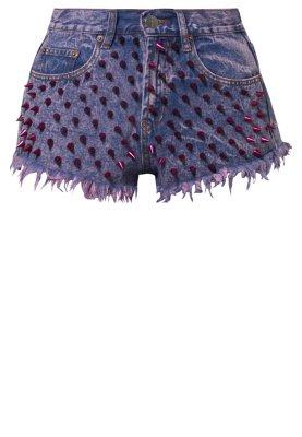 Bitching & Junkfood KAREKARE SPIKE - Denim shorts - pink - Zalando.co.uk