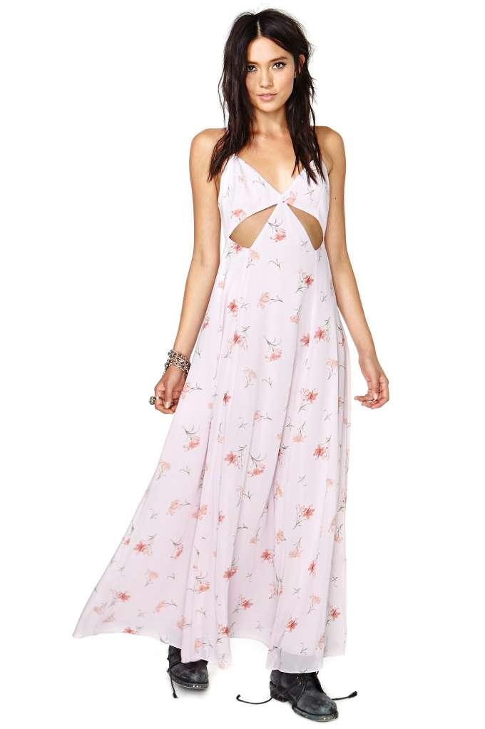Nasty Gal Falling Lilies Maxi Dress | Shop Festival Shop at Nasty Gal