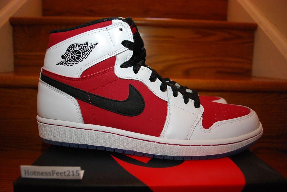 Nike Air Jordan 1 I Retro Hi Carmine White OG 555088 123 GS Men New Sz 4Y 14   eBay