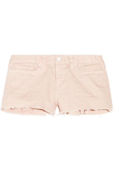 J Brand|1046 low-rise cut-off denim shorts|NET-A-PORTER.COM