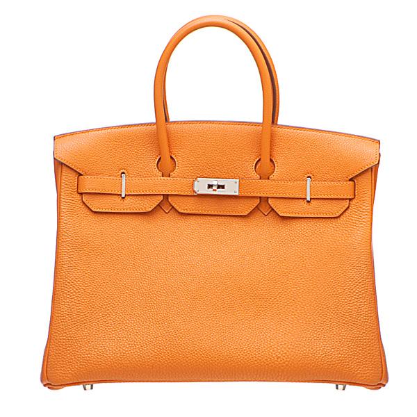 Shop By Hermes Birkin bag 35 Orange Togo leather Silver hardware | hermeslover.com