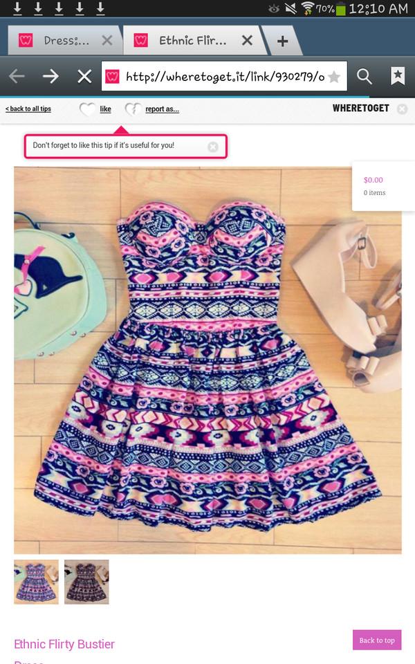 dress aztec dress bustier dress