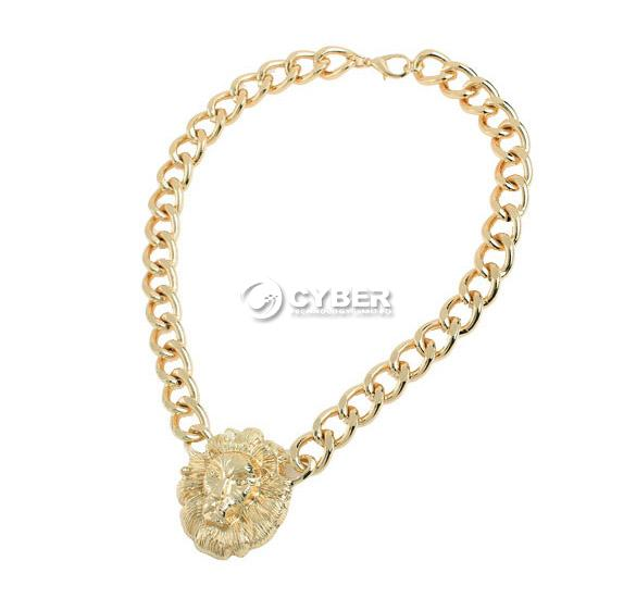 Fashion DZ88 European Style Head Clavicle Chain Gold Exaggeration Lion Necklace | eBay