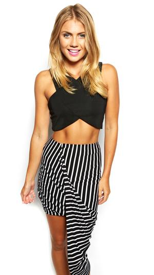 HOLY ROLLER MAXI SKIRT BLACK AND WHITE REP « Tiger Mist