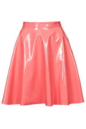 Vinyl Skater Skirt - Topshop