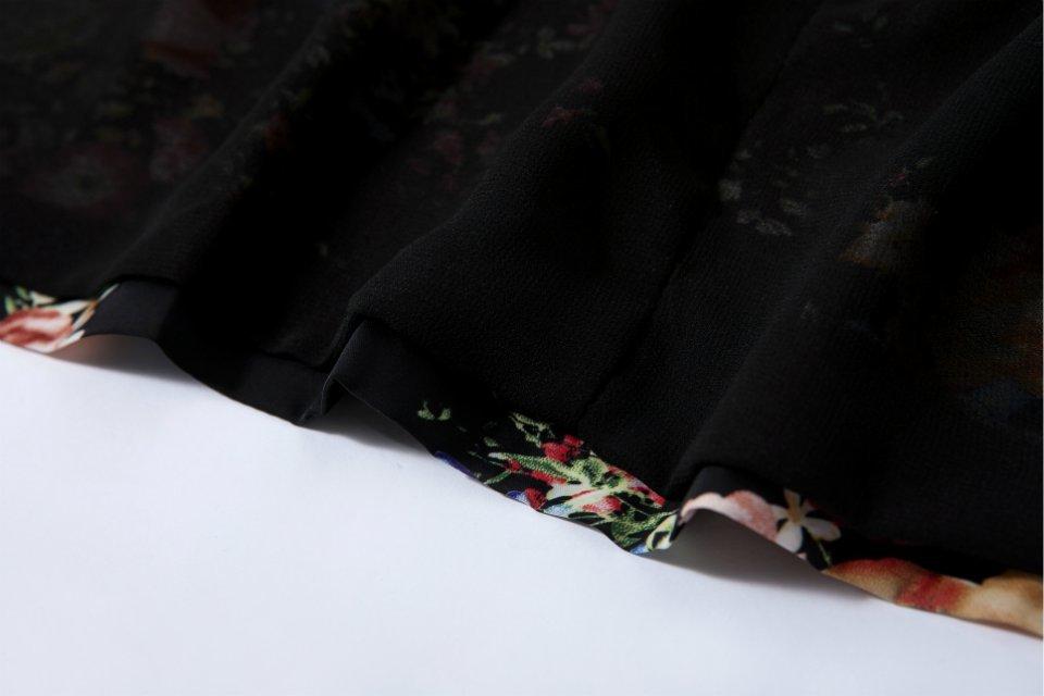 Fashioned Printed Kimono 3/4 Sleeve Blazer [DLN1179] - PersunMall.com