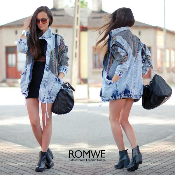ROMWE   Retro Flat Heel Zipped Black Shoes, The Latest Street Fashion