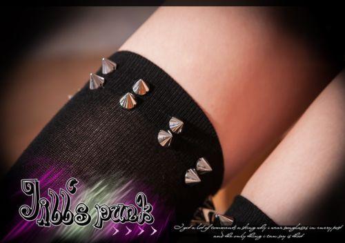Punk Rock Kera Heavy Metal Visual Amazon Warrior Spike Stud Knee High Socks | eBay