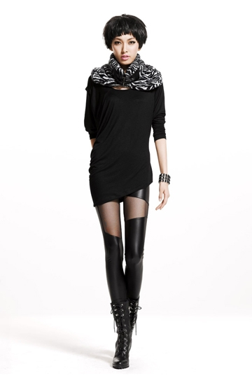 Sexy Leather Stitching Lace Legging [FBBI00125]- US$ 5.99 - PersunMall.com
