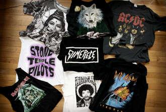 t-shirt band t-shirt band vintage hipster le happy jimi hendrix grunge black wolf top iron maiden dimepiece rock shiva native american alternative boho