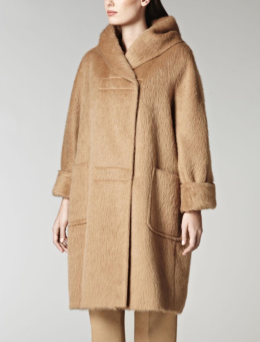 Silk and alpaca coat, camel - Max Mara United Kingdom