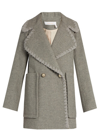coat wool grey