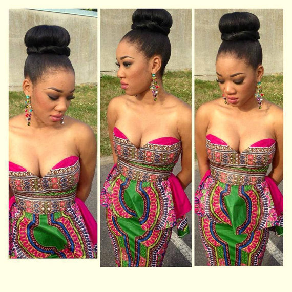 Dashiki Pink Set by THEAFRICANSHOP on Etsy