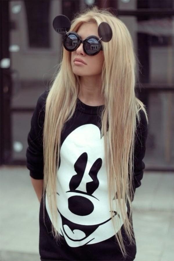 sweater sunglasses round sunglasses black sunglasses mickey mouse
