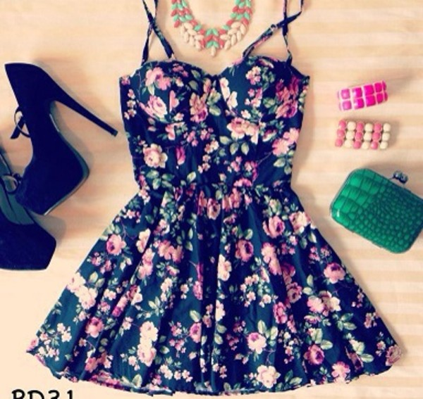 dress short dress floral