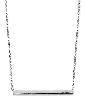 Studio Silver Sterling Silver Necklace, Bar Necklace - Necklaces - Jewelry & Watches - Macy's