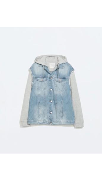 jacket denim jacket zara sweater grey sweater blouse
