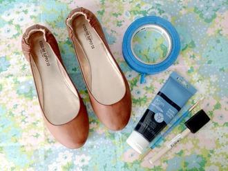 shoes flats ballerina brown summer ballet flats