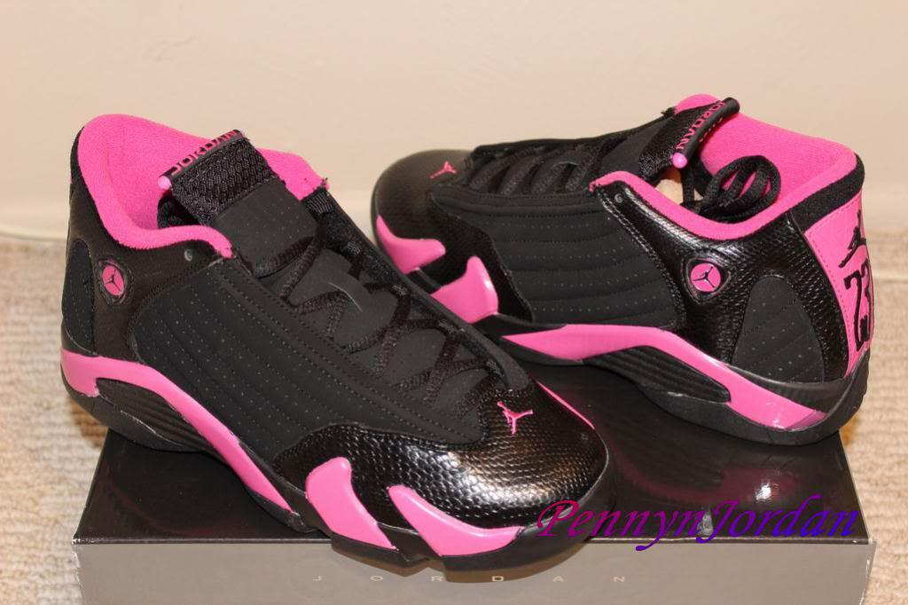 check out 5130d 31b31 ... womens air jordan retro 14 pink green ...