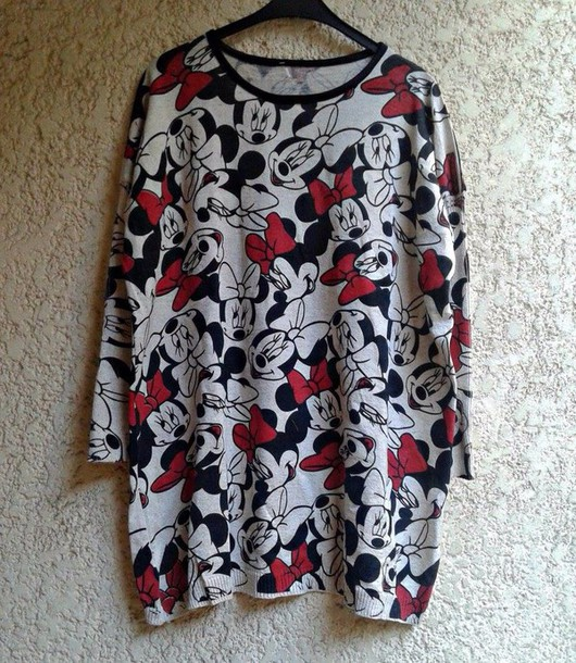 top a grey and red minnie mouse.