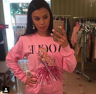 sweater pink sweatshirt aurora disney princess disney vogue sleeping beauty