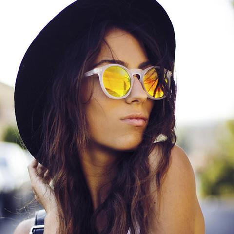 Retro P3 Round Revo Lens Colorful Sunglasses 8932                             zeroUV