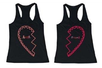 Amazon.com: BFF Tank Tops Best Friend Matching Hearts Matching Shirts for Best Friends: Clothing