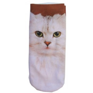 Hollywood Mirror |  WOMENS PHOTO PRINT ANKLE SOCK CAT - SOCKS - ACCESSORIES