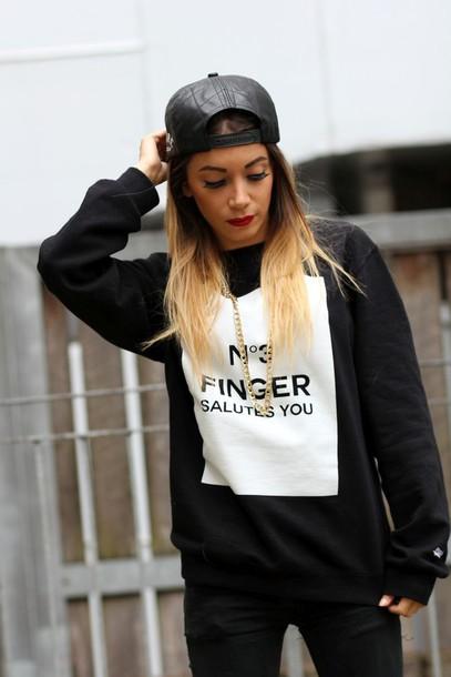 sweater jumper quote on it sweatshirt madreglasgow glasgow cara delevingne cara delevingne dope swag
