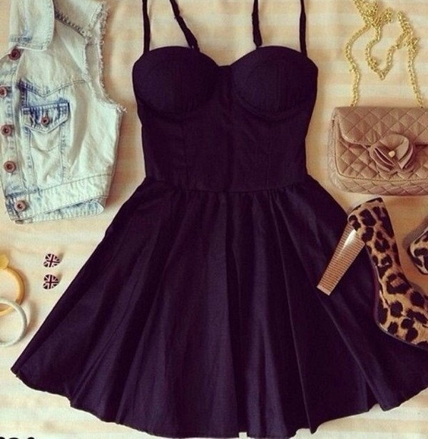 dress short black little black dress