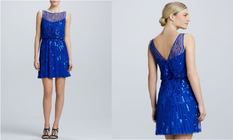 dress blue blue dress blue prom dress shiny sequin dress blue sequin dress cocktail dress boat neck